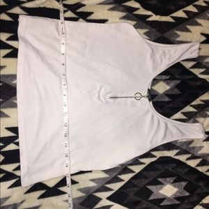 Tank top crop top white